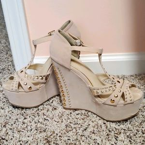 Studded Accent Wedges